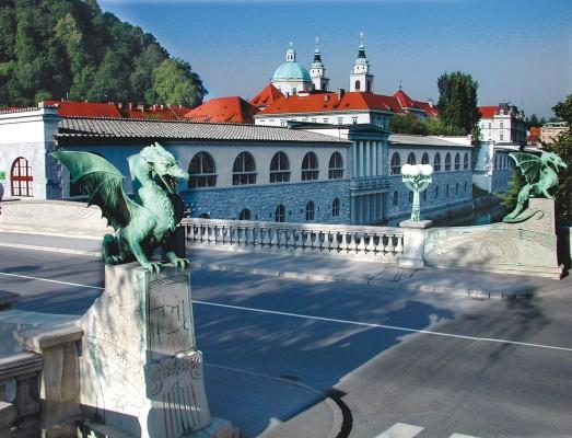 نهر ليوبليانا في سلوفينيا