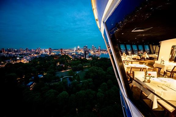 مطعم براسري في برج يوروماست روتردام