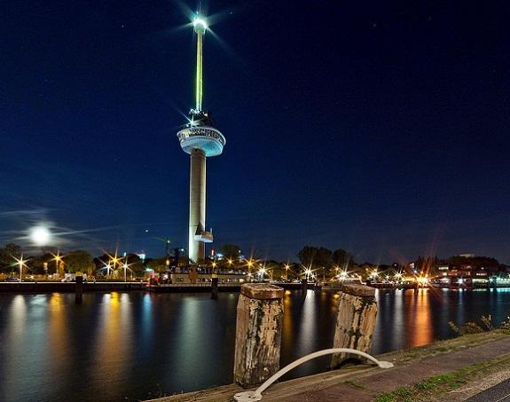 برج يوروماست من افضل الاماكن السياحية في روتردام هولندا