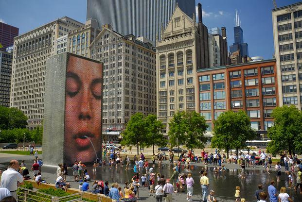 ميلينيوم بارك في شيكاغو
