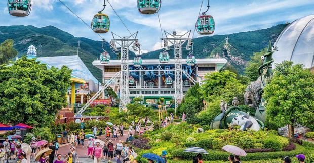 حديقة المحيط في هونغ كونغ من اشهر اماكن السياحة في الصين