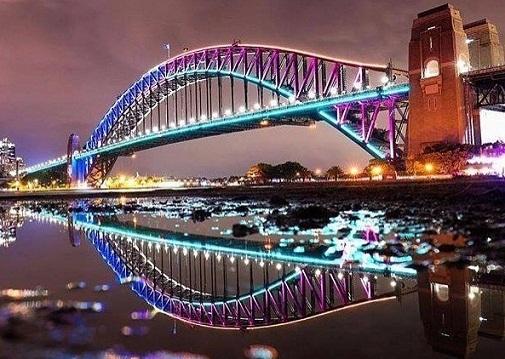 جسر ميناء سيدني من اشهر معالم سيدني السياحية