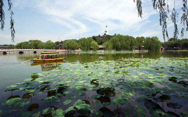 حديقة بيهاي في بكين الصين