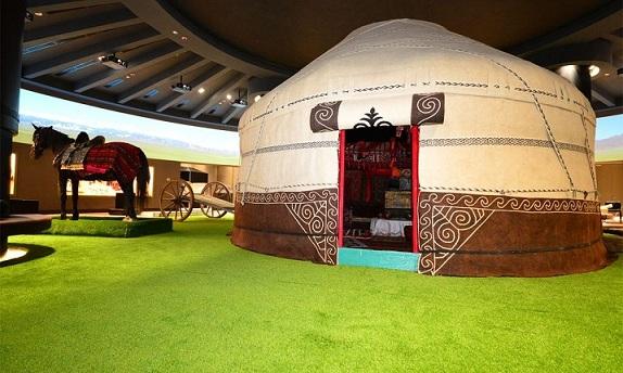 قاعة الإثنوغرافيا في متحف كازاخستان الوطني في أستانا