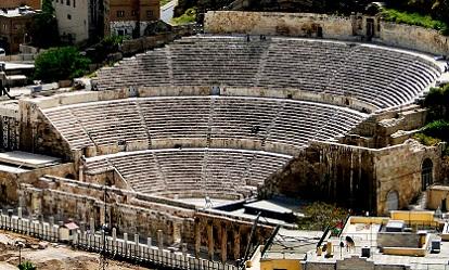 المدرج الروماني في عمان ، من اشهر معالم مدينة عمان الاردن