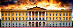 القصر الملكي في أوسلو النرويج