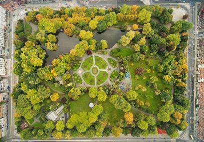 حديقة ساينت ستيفنز جرين في دبلن ايرلندا