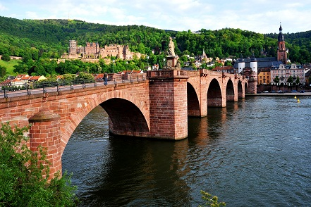مشهد للجسر القديم في هايدلبرغ - السياحة في هايدلبرغ