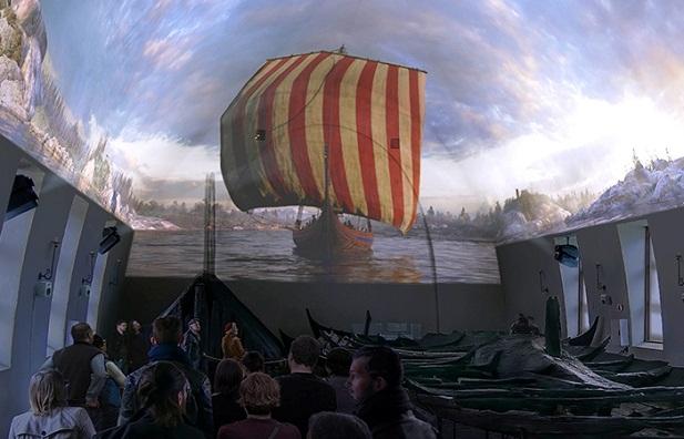 فلم الفايكنج في متحف سفينة الفايكينغ في أوسلو