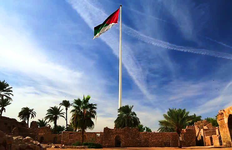 سارية العلم بالقرب من متحف آثار العقبة