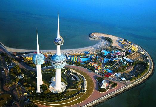 مشهد جوي لأكوا بارك في العاصمة الكويتية