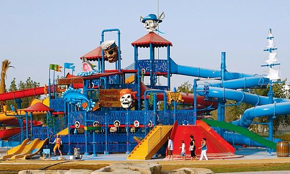 شاطئ القراصنة في متنزه قطر المائي في الدوحة