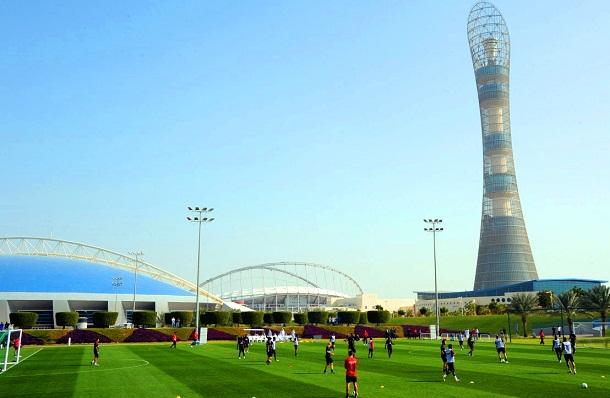ملاعب كرة القدم في متنزه أسباير في الدوحة