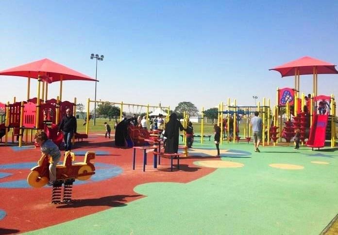 ملاعب الأطفال في متنزه أسباير في الدوحة