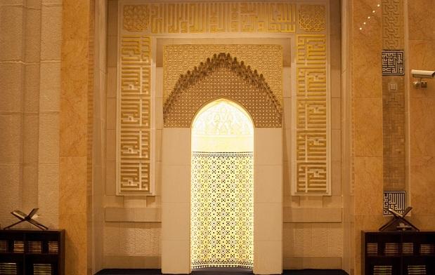 جدران المسجد الكبير في العاصمة الكويتية