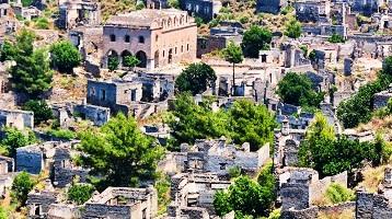 قرية كاياكوي التاريخية في فتحية تركيا - السياحة في فتحية تركيا