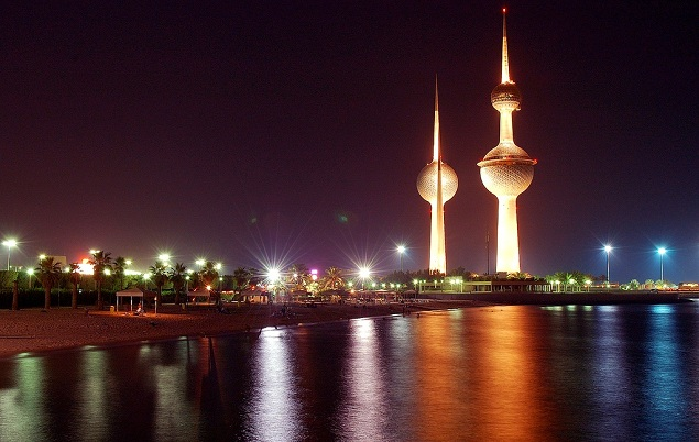 مشهد لأبراج الكويت