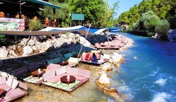 مطاعم ممر ساكليكنت المائي في فتحية تركيا