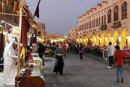 أروقة سوق واقف في الدوحة - اسواق قطر