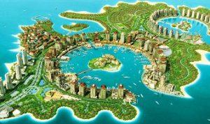 جزيرة لؤلؤة قطر في الدوحة قطر