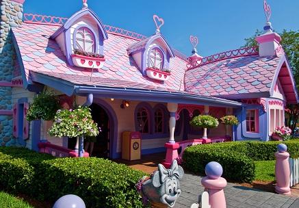 منزل ميني ماوس في منتجع طوكيو ديزني لاند