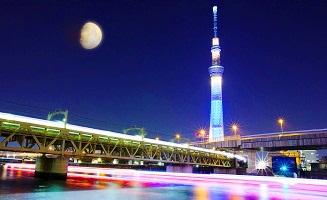 طوكيو سكاي تري في اليابان من اهم اماكن السياحة في طوكيو