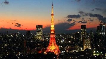 برج طوكيو في اليابان من اهم الاماكن السياحية في طوكيو