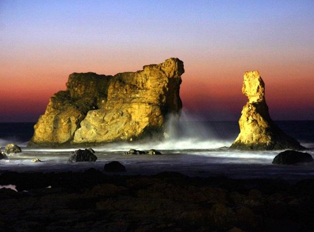 الغروب في شاطئ كليوباترا في مرسى مطروح
