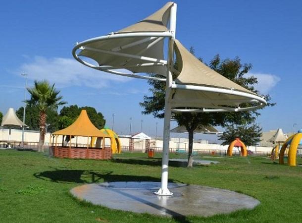 مظلات متنزه الملك فهد في الطائف