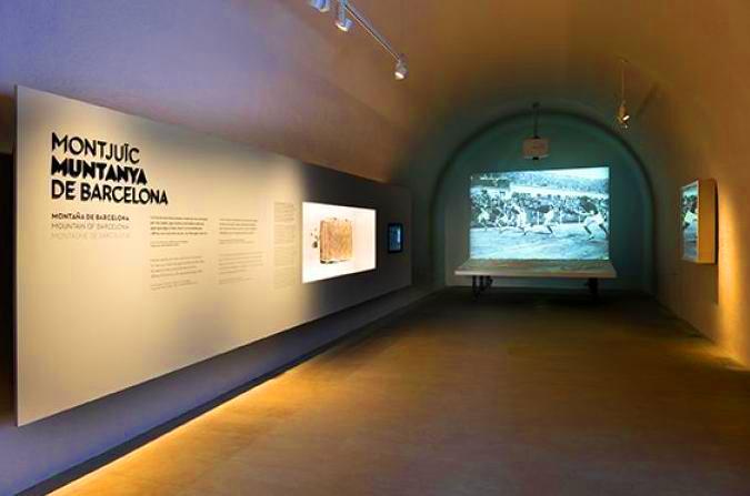 قاعة التاريخ في قلعة مونتجويك في برشلونة إسبانيا