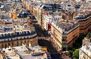 شارع ريفولي في باريس فرنسا