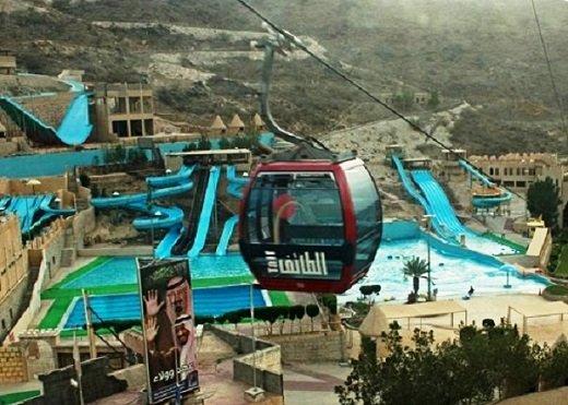 ألعاب مائية بالقرب من تلفريك الطائف من اهم الاماكن السياحية في الطائف