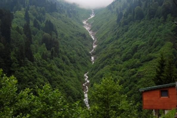 شلالات جالين تولو في ريزا التركية