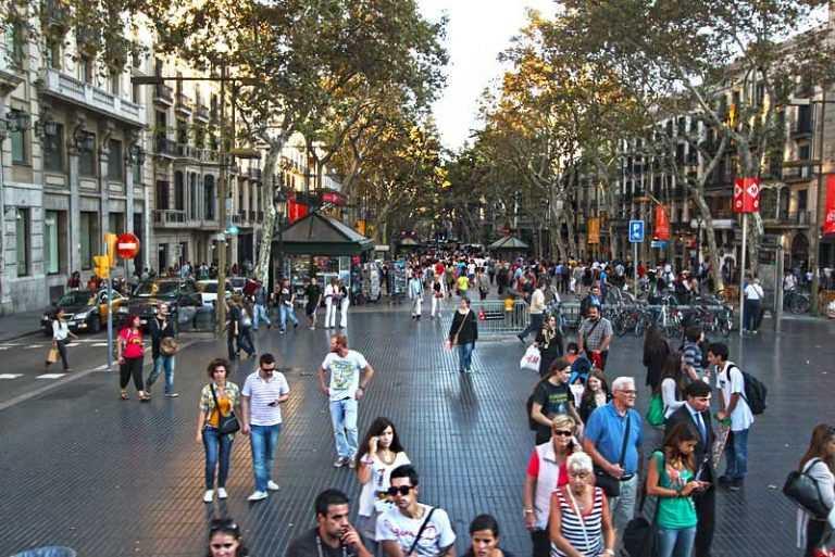شارع الرامبلا السياحة في برشلونة - صور مدينه برشلونه