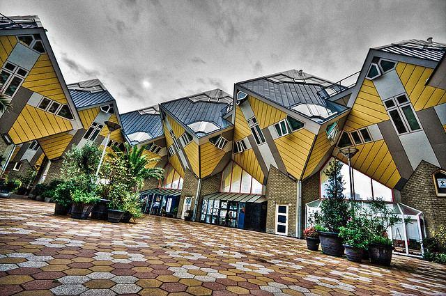 المنازل المكعبة في روتردام من افضل الاماكن السياحية في روتردام