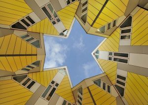 المنازل المكعبة في روتر دام من اهم المعالم في روتردام