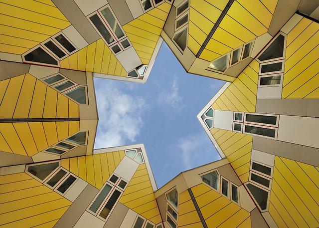 المنازل المكعبة في روتر دام من اهم معالم روتردام