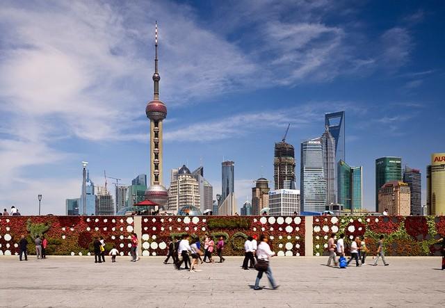منطقة بوند من اشهر الاماكن السياحية في شنغهاي الصين