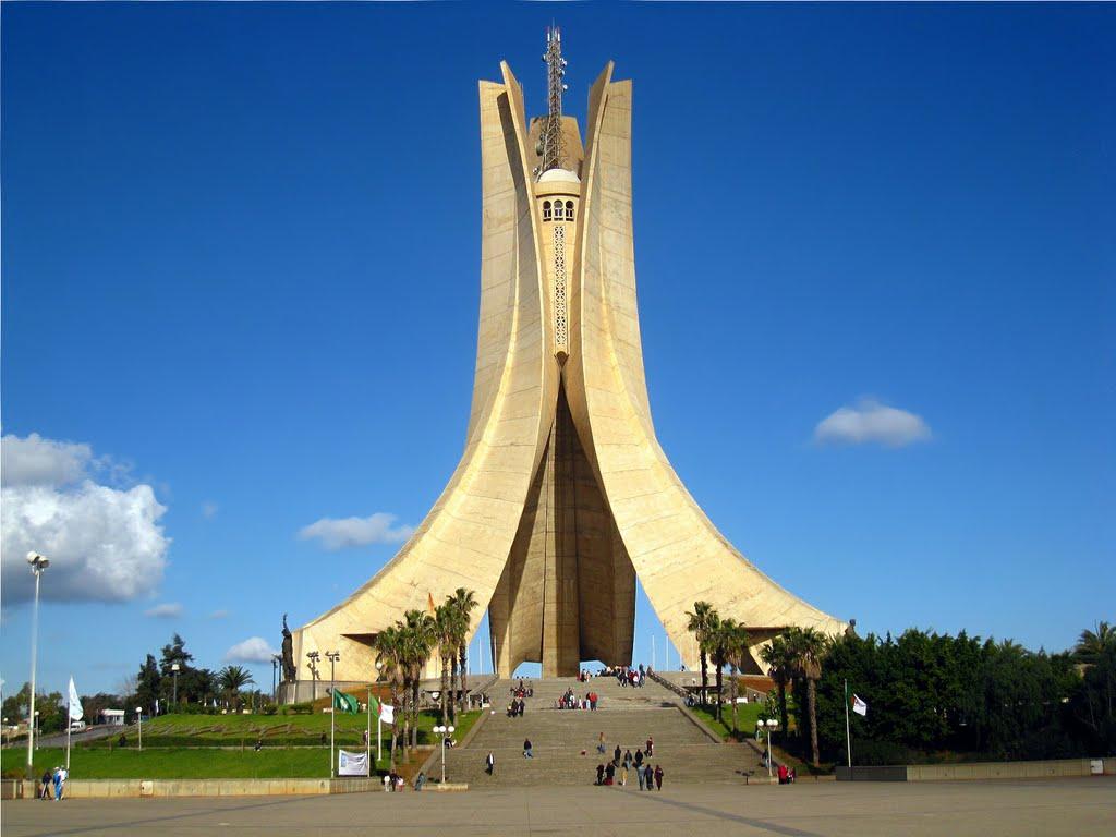 مقام الشهيد في مدينة الجزائر من اجمل الاماكن السياحية في الجزائر العاصمة