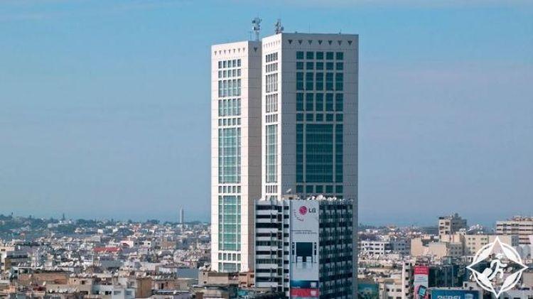 البرج التوأم من اجمل اماكن السياحة في مدينة كازابلانكا المغرب
