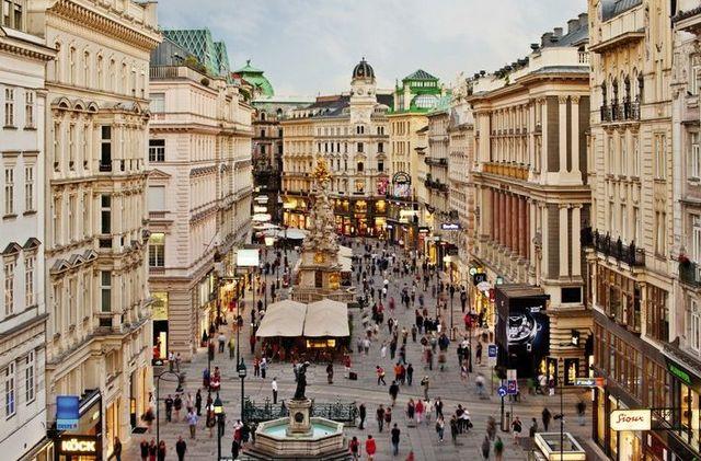 شارع كارنتنر في مدينة فيينا النمسا