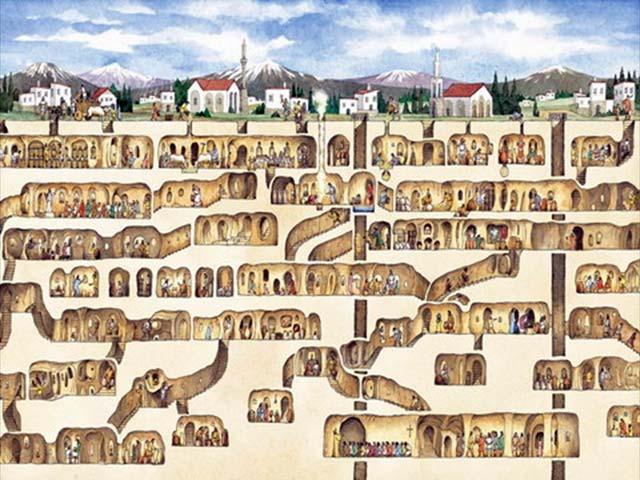 السياحة في ديرينكويو تركيا