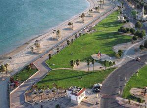 شاطئ الفناتير في الجبيل من اهم الاماكن السياحية في الجبيل