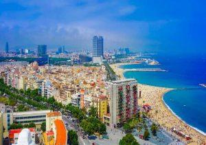 شواطئ برشلونة من أجمل الاماكن السياحية في برشلونة