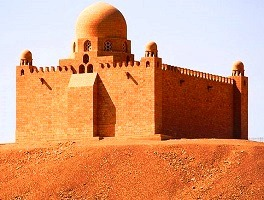 ضريح الآغا خان من اشهر معالم السياحة في اسوان مصر