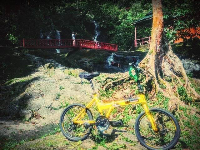 الدراجات الهوائية في شلالات تمبلر بارك