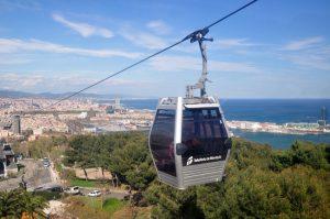 التلفريك في برشلونة من اهم معالم السياحة في اسبانيا