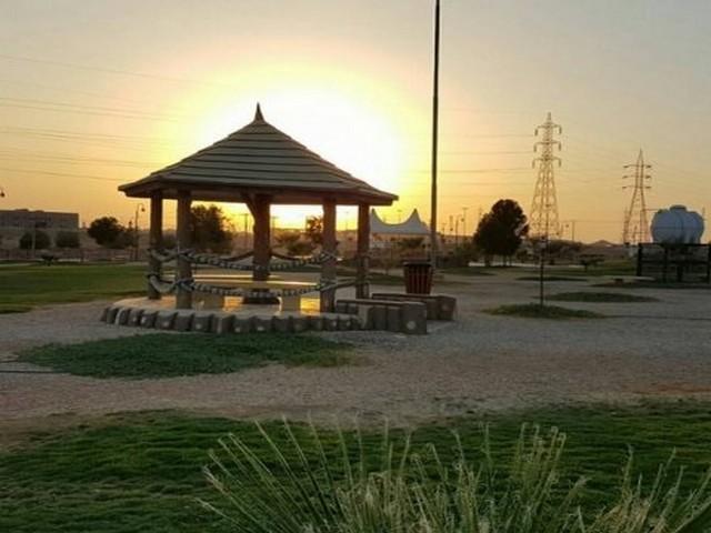 مظلات منتزه الملك سلمان البري في الرياض