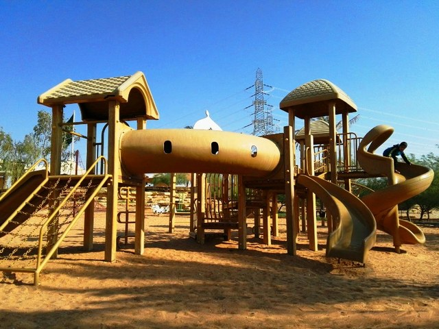 ملاعب الأطفال في منتزه الملك سلمان البري الرياض السعودية
