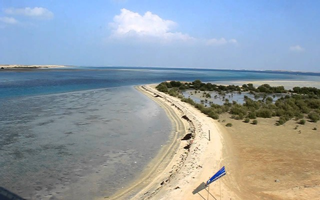 ساحل عبرة في جزيرة فرسان في السعودية